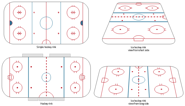 Design elements - Hockey rinks