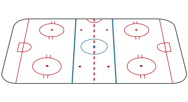 Ice hockey rink view from long side, hockey field, hockey field diagram, hockey field layout,