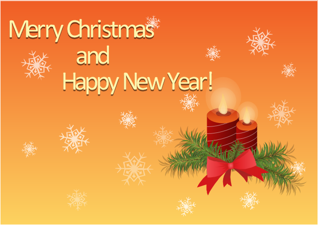 merry christmas and happy new year greetings card christmas candles