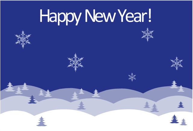 new year card winter night template