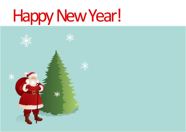 Vector illustration, snowflake, Santa Claus, Christmas tree,