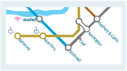 Tube map, wheelchair access, road, river, line, station, road, National Rail Train Station,