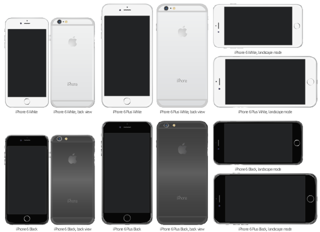 iPhone 6 and iPhone 6 Plus, iPhone 6 landscape mode, iPhone 6 Plus, iPhone 6,