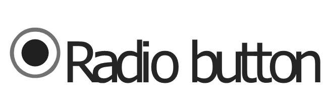 Radio button - selected, radio button,