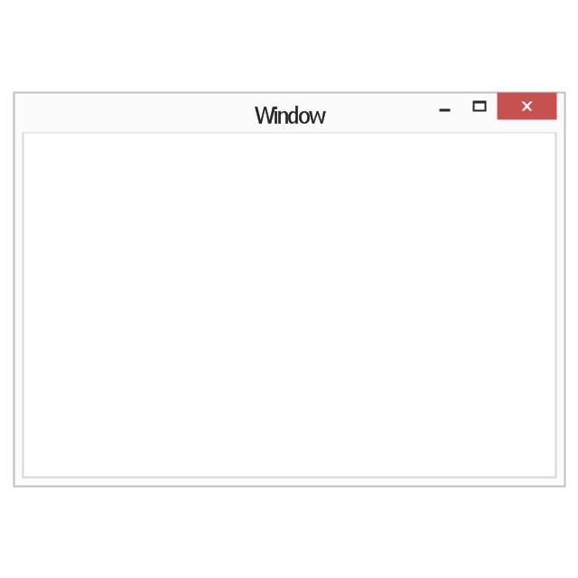 Window frame, window frame, minimize window button, maximize window button, close window button,