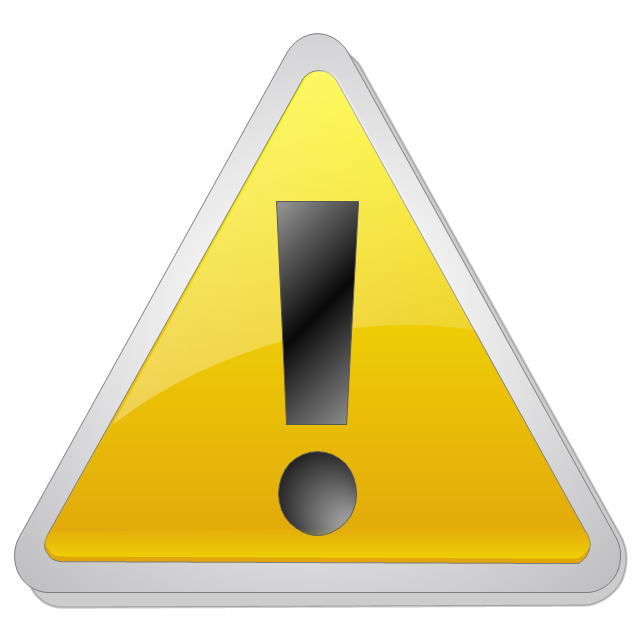 Warning icon, warning standard icon,