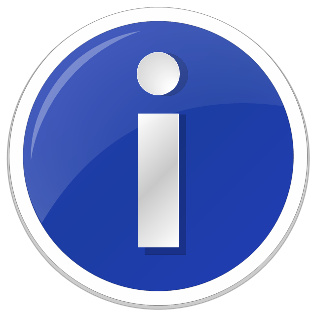 Information icon, information standard icon,