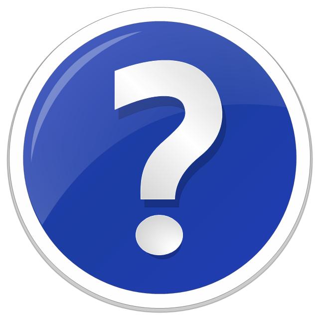 Question mark icon, question mark standard icon,
