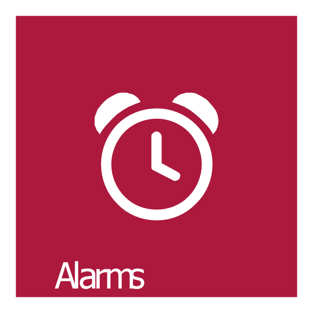 Alarms, Alarms icon,