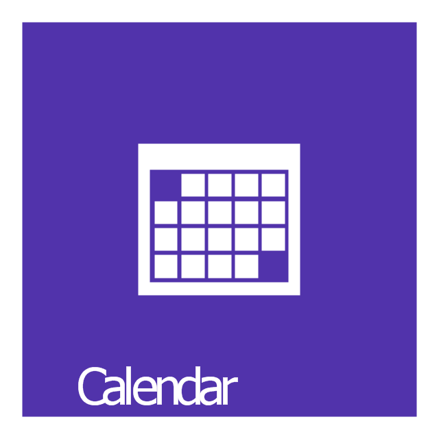 Calendar Apps For Windows : Windows apps vector stencils library how to design a