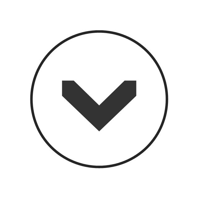 Single chevron control - down, progressive disclosure controls,