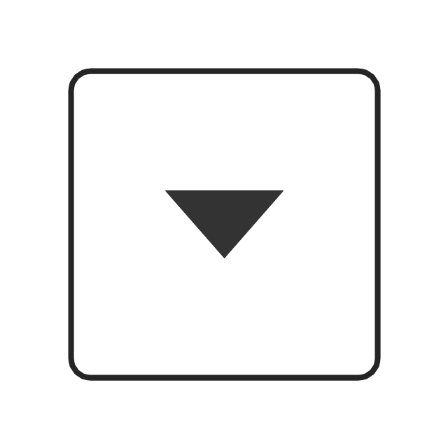 Arrow control button - down, arrow control,