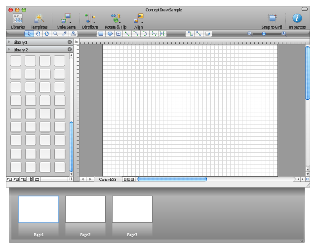 ConceptDraw graphic user interface (Mac)