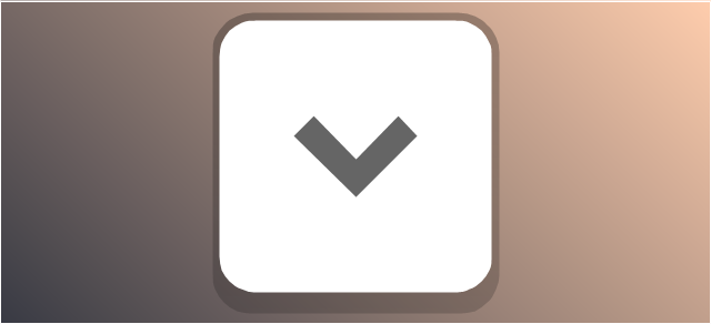 Disclosure button - point down, disclosure button, expand field button, chevron,