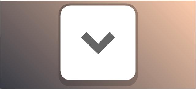 Disclosure button - point down, disclosure button, expand field button, chevron,