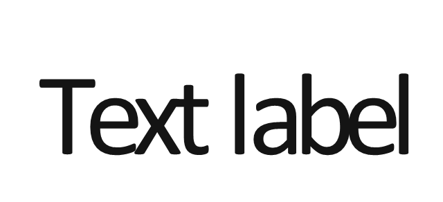 Text label, text label,