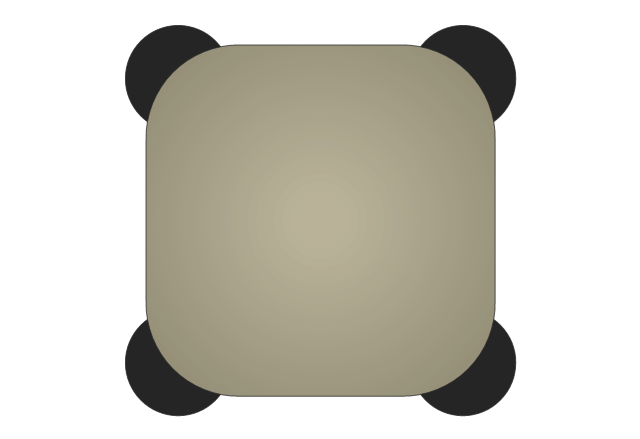 Square Stool, square stool,