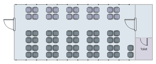 Seat map, window, casement, wall, room, door, chair,