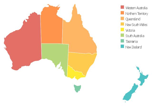Australia thematic map template, New Zealand, Australia, Australia map,