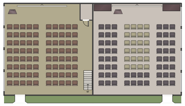 Floor plan, window, casement, wall, straight staircase, screen, room, podium, opening, driveway, door, chair, bookcase,