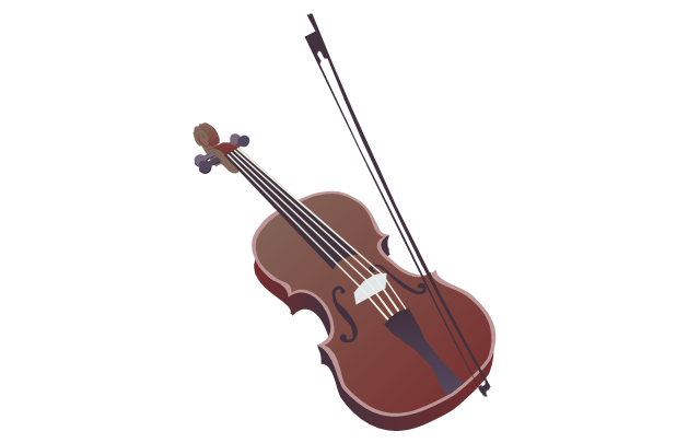 Violin - clipart, violin, violin bow,