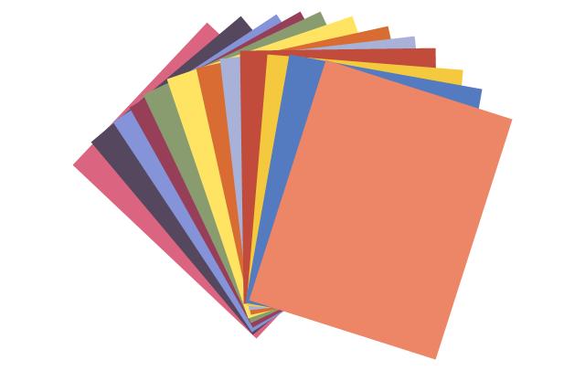Colored paper, colored paper,