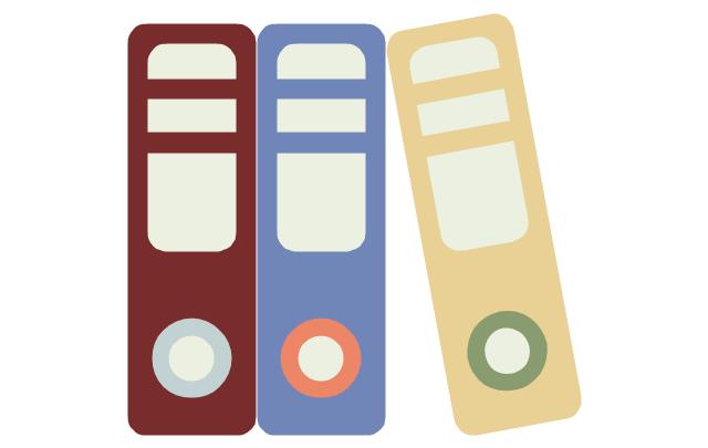 Folders, folders, paper folder, document folder,