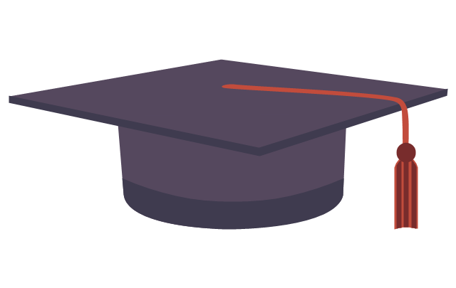 Graduation cap, graduation cap, square academic cap, master's cap,
