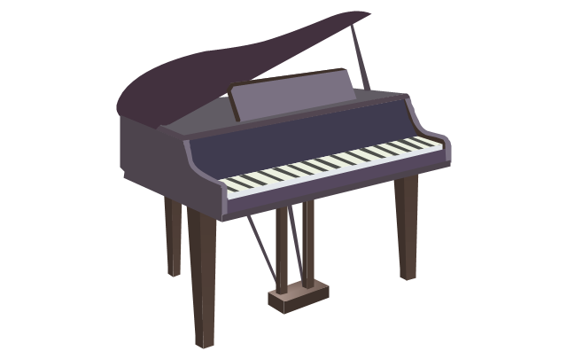 Grand piano - clipart, grand piano,