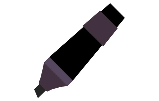 Marker - black, marker,