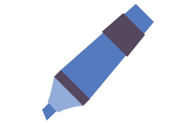 Marker - blue, marker,