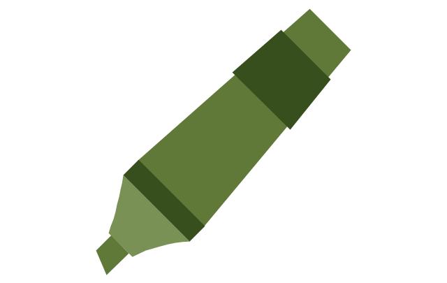 Marker - green, marker,