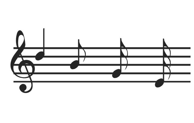 Music notes, music notes, musical symbols, music staff, treble clef,