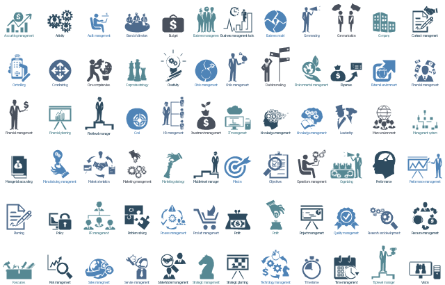 Design Elements Management Pictograms Design Elements