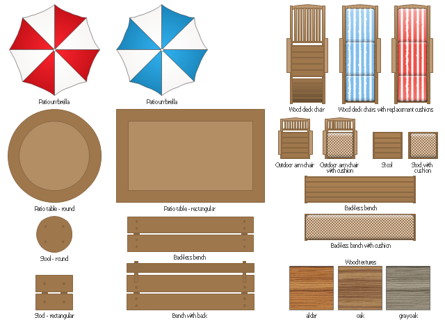 Design Elements Garden Furniture Building Drawing