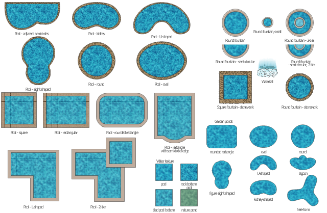 Ponds and fontains clipart, waterfall, water texture, square pool, square fountain, semi-circular fountain, two-tier fountain, semi-circular fountain, rounded rectangle pool, rounded rectangle pond, round pool, round pond, round fountain, rectangular pool, pool, semi circle ledge, pool, pond, lagoon pond, lagoon pool, oval pool, oval pond, kidney pool, kidney pond, green water texture, pond water, free-form pool, free-form pond, figure eight shaped pool, keyhole pool, figure eight shaped pond, bean shaped pool, u-shaped pool, bean pond, u-shape pond, L-shaped pool, true ell pool, 2-tier fountain, two-tier fountain, 2 tier pool,