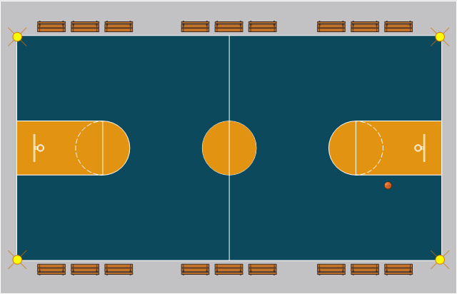 Basketball ice hockey rink dimensions basketball court for Basketball court plan