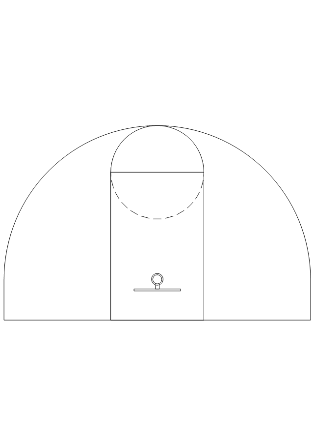 Basketball 3-pt., basketball key,
