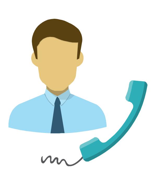 Phone caller, man, phone caller, man, clerk, man, man torso,