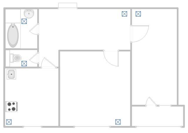Hvac plans how to create a hvac plan air handler hvac plan floor plan malvernweather Image collections