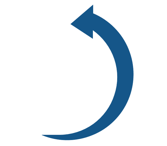 Counterclockwise arrow, counterclockwise rotating arrow,