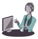 Customer service operator, customer service operator,