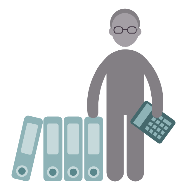 Bookkeeper, bookkeeper, profession icon,