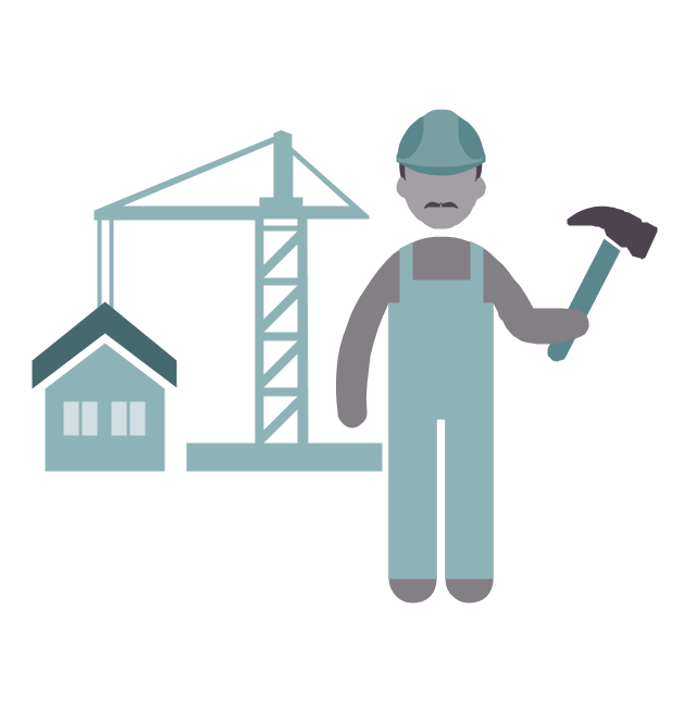 Builder, builder, profession icon,