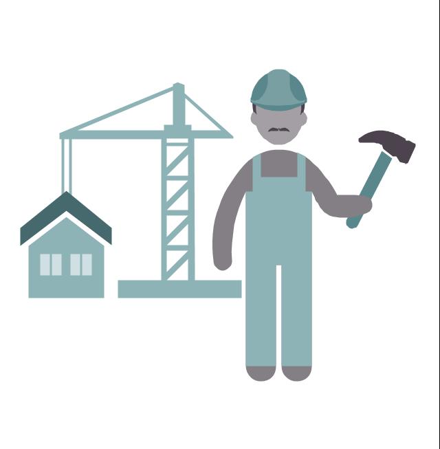 Builder, builder, profession icon,