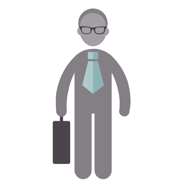 Businessman, businessman, profession icon,