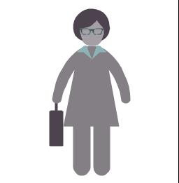 Businesswoman, businesswoman, profession icon,