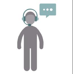 Call center operator, call center operator, profession icon,