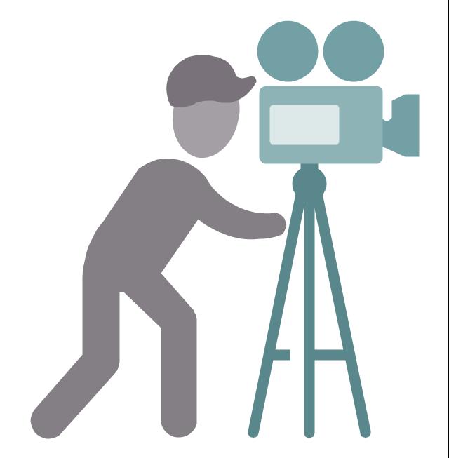 Cameraman, cameraman, profession icon,