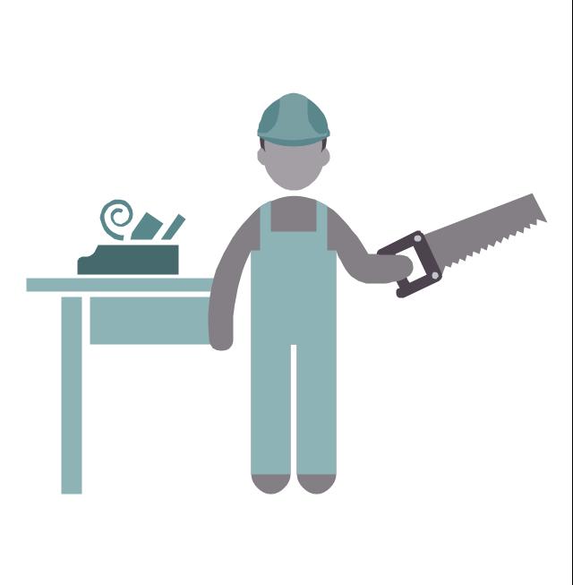 Carpenter, carpenter, profession icon,